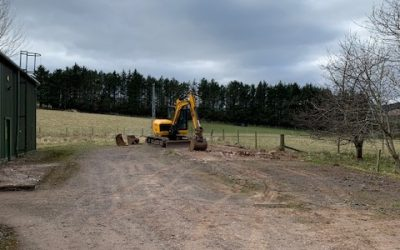 March 2021 – New building work starts.